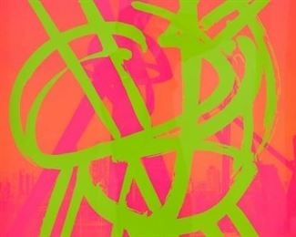 Mark di Suvero (b. 1933). Untitled silkscreen on paper. 2000. Signed and numbered 40/108 along the lower right. A Nash Galleries label is adhered to the verso. SKU: 01220 Follow us on Instagram: @revereauctions