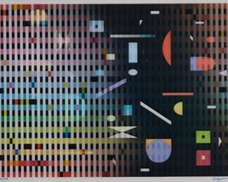 Yaacov Agam (b. 1928). Geometric Agamograph. Signed along the lower right and numbered 82/99 along the lower left.  SKU: 01736 Follow us on Instagram: @revereauctions
