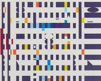 """Yaacov Agam (b. 1928). Geometric silkscreen on paper titled """"Espec."""" Signed along the lower right ad numbered XV/IC along the lower left. SKU: 01868 Follow us on Instagram: @revereauctions"""