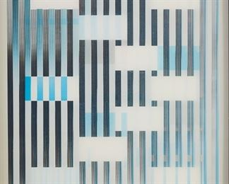 """Yaacov Agam (b. 1928). Agamograph titled """"Multiple Space."""" Signed along the lower right and illegibly numbered along the lower left.  SKU: 01221 Follow us on Instagram: @revereauctions"""