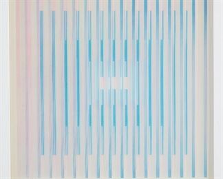 """Yaacov Agam (b. 1928). Agamograph titled """"Silent Prayer."""" Signed along the lower right and numbered 8/99 along the lower left. An """"Agamograph'' label is attached to the back, as is a label from Callaway Galleries, Rochester, Minnesota.  SKU: 01222 Follow us on Instagram: @revereauctions"""