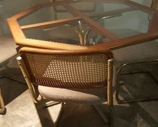 Game, poker or dining room table with 4 chairs