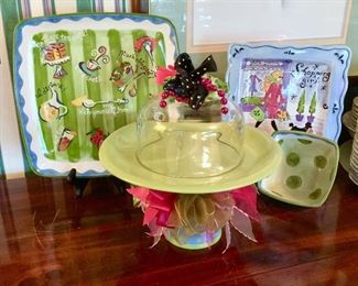 Whimsical Serving pieces. Becky Denny