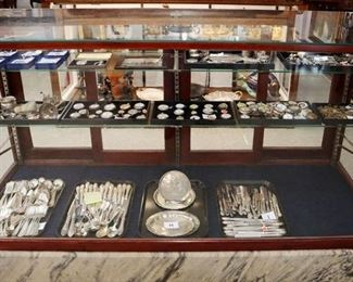 Showcase Grouping - Silver, Watches, Jewelry