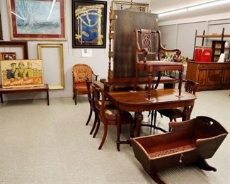 Inlaid Dining Set, Communist Poster & Artwork, early cradle