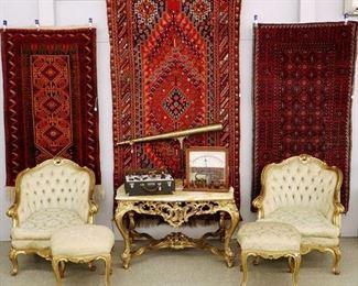 Afghan, Balouch, Shiraz Rugs, 1930s LXV Parlor Set