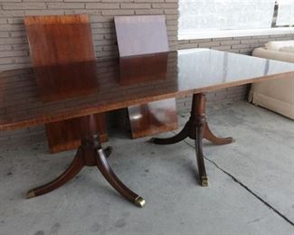 6. Mahogany Federal Style Dining Table w Leaves