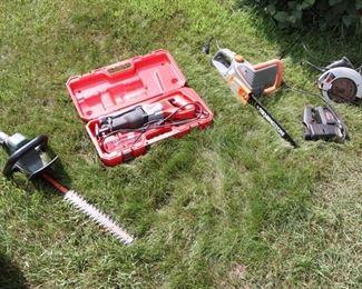 Remington Electric chain saw, Dewalt Saw, Work force Wet Saw