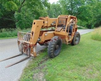 1998 Lull mod 844C-42 8,000 lb, 42' reach, 4wd, John Deere dsl turbo, 4 wheel steer, crab steer, 2192. hrs Ser# 98W20P22-1297 , 13.00-24 tires foam filled, machine weight, 24,200+ lbs, tilt carriage Runs/Works
