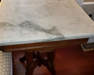 13 Marble Top Wooden Side Table