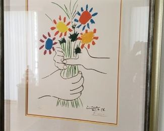 Picasso with COA, numbered 169/200 and hand signed.