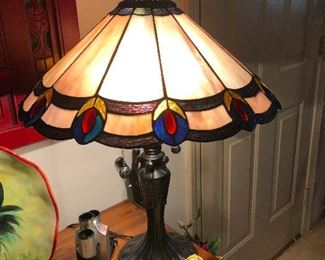 Tiffany style stained-glass lamp