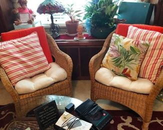 Lovely rattan parlor chairs
