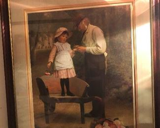 Hmm, picture of Gramps tending to Maybelle's bee sting
