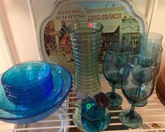 more blue glass