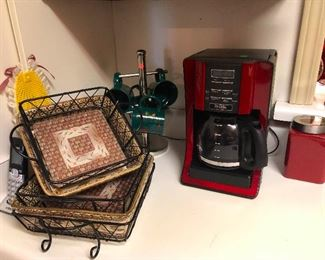 Gold panning trays? Coffee maker in the color of Harlot Red. (I've been watching Harlots on Hulu, can you tell?)