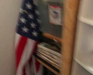fuzzy pic of American flag