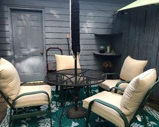 patio furniture with puffy puritan cushions
