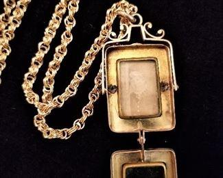 14K Gold Intaglio Cameo Locket