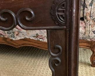 Corner detail of preceding table