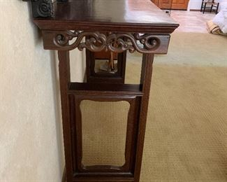 Tall carved Chinese altar table