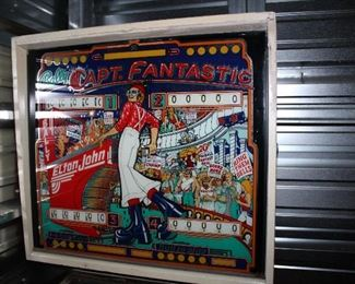 Captain Fantastic Pinball Machine from 1976