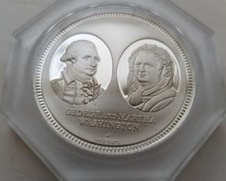 Rare collectible solid silver proof coin