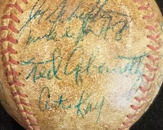 Circa 1962 Jacksonville Suns baseball autographed by various players including Ted Abernathy.