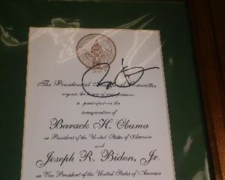 PRESIDENTIAL INVITATION SIGNED BY PRESIDENT OBAMA