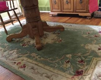 Dining Room Table Base and Rug