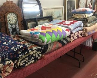 Several Old Quilts and Coverlets from Local Counties