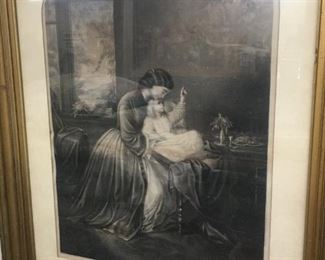 Victorian Mother and Daughter Themed Print