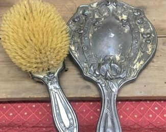 Victorian Brush and Mirror Set