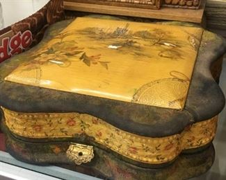 Victorian Dresser Box with Contents