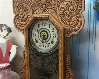Gingerbread Mantle Clock