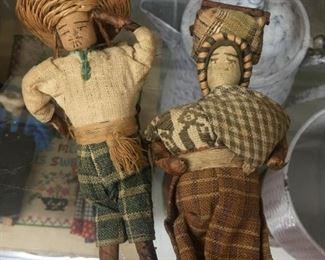 Early Cloth Souvenir Dolls
