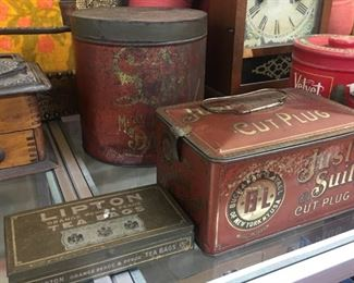 Old Just Suits Cut Plug Tobacco Tin