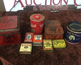 Old Tiger Chewing Tobacco Tin with Others(Union Leader)