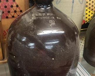 2 Gallon Norton Stoneware Jug Bennington, Vt.