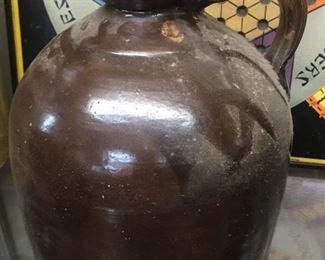 Old Pottery Syrup Pitcher