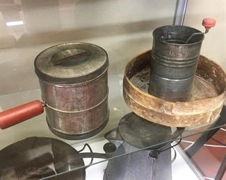 Primitive Kitchen Items/Large Sifter