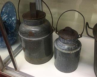 Old Graniteware Milk/Cream Pails