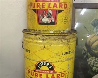 Old Luters Lard Cans(Black Americana Graphics)
