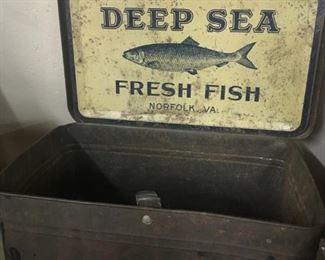 Old Deep Sea Fresh Fish Ad Tin(Norfolk, Va.)
