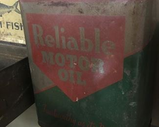 Old Reliable Motor Oil Can