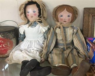 Cloth Face Folk Art Dolls