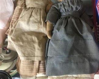 Folk Art Cloth Face Dolls