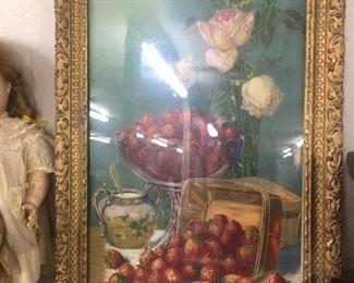 Victorian Fruit Themed Print