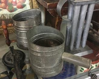 Old Candle Mold,Press and Tinware