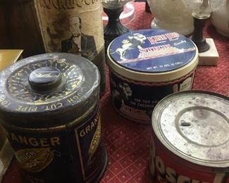 Old Advertising Tobacco and Coffee Tins